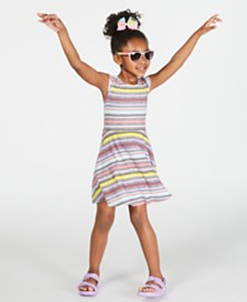 Epic Threads Super Soft Toddler Girls Striped Fit & Flare Dress, Created for Macy's