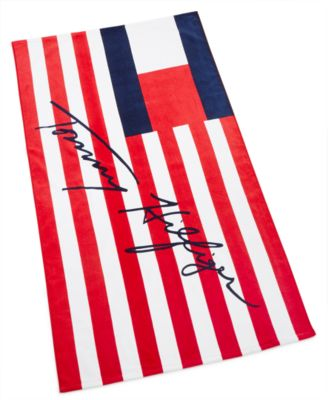 """Flags And Stripes Cotton 35"""" x 66"""" Beach Towel"""