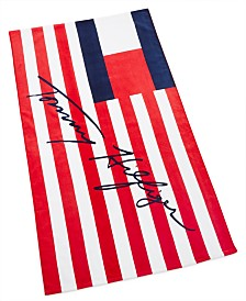 "Tommy Hilfiger Flags And Stripes Cotton 35"" x 66"" Beach Towel"