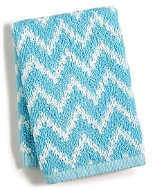 "CLOSEOUT! Cobra Chevron Cotton 13"" x 13"" Wash Towel"