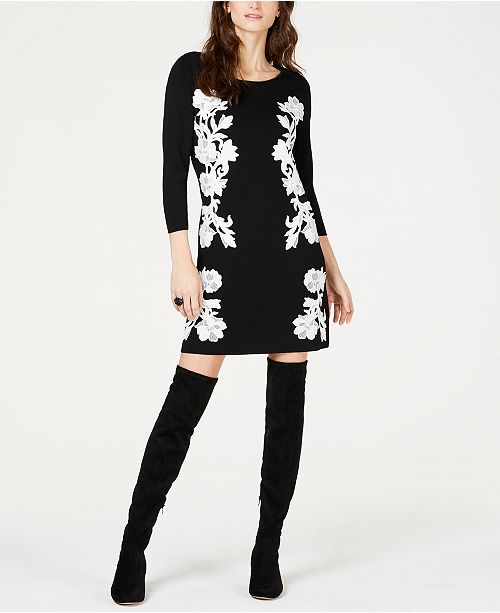 INC International Concepts I.N.C. Lace-Trim Sweater Tunic, Created for Macy's