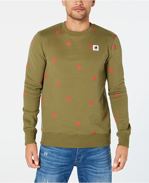 G-Star Raw Men's Straight-Fit Scattered-Print Sweater