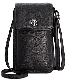 Softy Leather Tech Crossbody Wallet, Created for Macy's
