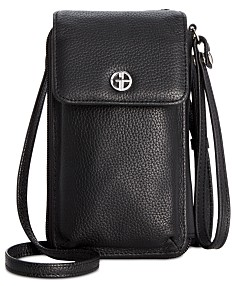 987ca1f9f297f Giani Bernini Softy Leather Tech Crossbody Wallet, Created for Macy's