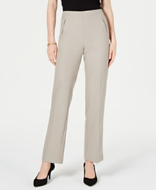Style & Co Petite Tummy-Control Straight-Leg Pants, Created for Macy's