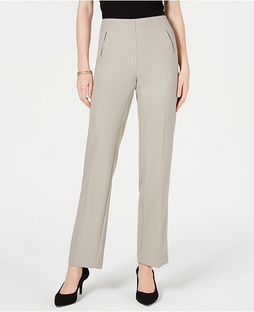 dd96cb3365a ... Style & Co Petite Tummy-Control Straight-Leg Pants, Created for Macy's  ...