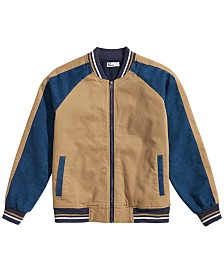 Epic Threads Big Boys Skull Bomber Jacket, Created for Macy's