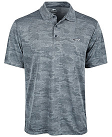 Attack Life by Greg Norman Men's Camo Jacquard Polo, Created for Macy's