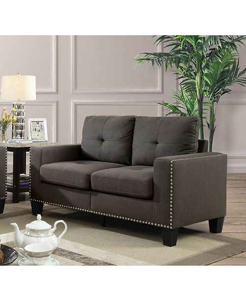 Furniture of America Zilly Modern Victorian Loveseat