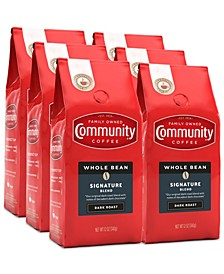 Signature Blend Dark Roast Premium Whole Bean Coffee, 12 Oz - 6 Pack