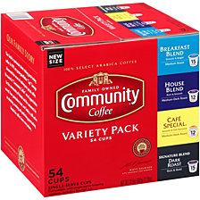 Variety Pack, Medium to Dark Roast Single Serve Pods, Keurig K-Cup Brewer Compatible, 54 Ct