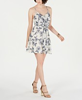208bd4f5 19 Cooper Printed Tie-Front Shift Dress
