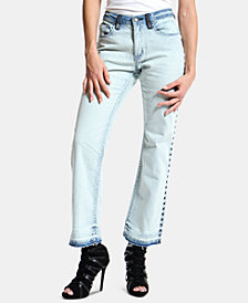 ARTISTIX Embroidered Colorblocked Bootcut Jeans