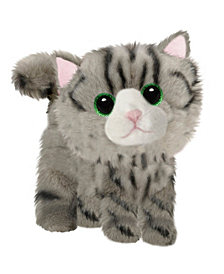 "First and Main - Fluffles Striped Kitten Plush, 7"" Sitting"