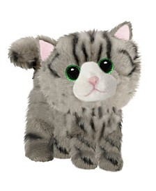 First and Main - Fluffles Grey Striped Kitten Plush