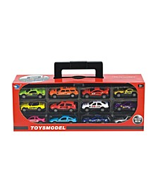 Lucky Toys - 1:64 Scale Pull Back Car Set, 12 Pieces