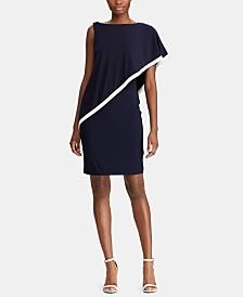 Lauren Ralph Lauren Jersey Cape Dress