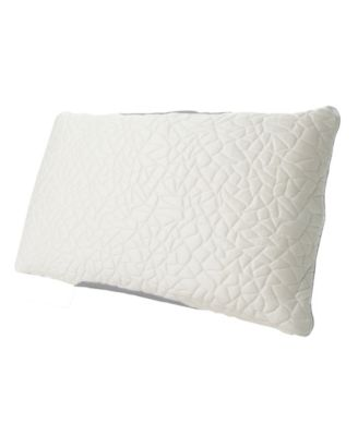 Queen Therm-A-Sleep Snow Classic Down Alternative Medium Pillow ft. Nordic Chill Fiber and Tencel