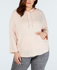 Calvin Klein Performance Plus Size 3/4-Sleeve Hoodie