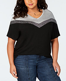 Say What? Trendy Plus Size Colorblocked T-Shirt