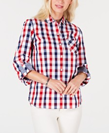 Tommy Hilfiger Gingham Cotton Button-Down Shirt