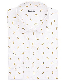 Men's Slim-Fit Performance Stretch Banana-Print Dress Shirt, Created for Macy's