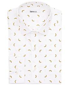 Men's Slim-Fit Performance Stretch Banana-Print Dress Shirt, Created for Macy's