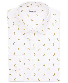 Bar III Men's Slim-Fit Performance Stretch Banana-Print Dress Shirt, Created for Macy's