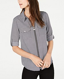 Printed Utility Shirt, in Regular & Petite Sizes