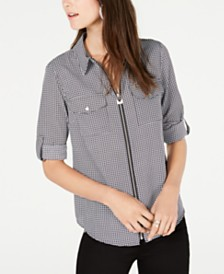 MICHAEL Michael Kors Printed Utility Shirt, in Regular & Petite Sizes