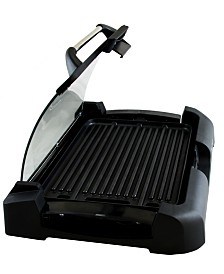 Megachef Reversible Indoor Grill and Griddle with Removable Glass Lid