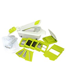 8-in-1 Multi-Use Slicer Dicer and Chopper with Interchangeable Blades, Vegetable and Fruit Peeler and Soft Slicer
