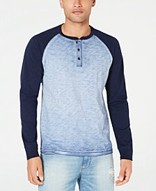 American Rag Men's Garment Dyed Henley, Created for Macy's