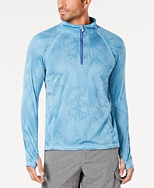 Tommy Bahama Men's IslandActive Palm-Print Quarter Zip