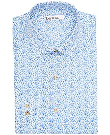 Men's Slim-Fit Performance Stretch Bird & Branch Print Dress Shirt, Created for Macy's