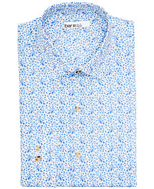 Bar III Men's Slim-Fit Performance Stretch Bird & Branch Print Dress Shirt, Created for Macy's