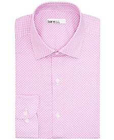 Men's Slim-Fit Performance Stretch Floral Tile Dress Shirt, Created for Macy's