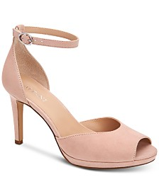 Alfani Women's Peonyy Platform Ankle-Strap Heel, Created for Macy's