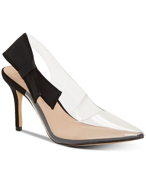 INC International Concepts INC Women's Coletta Slingback Pointed Toe Pumps, Created for Macy's