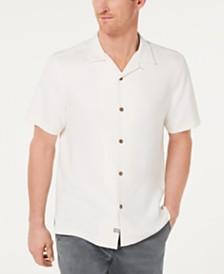 Tommy Bahama Men's Welcome To The Reel World Classic Fit Embroidered Silk Camp Shirt