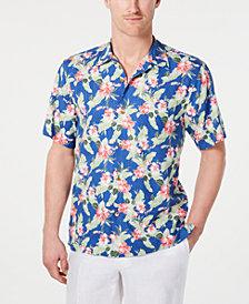 Tommy Bahama Men's Floral Pacific Paradise Hawaiian Shirt, Created for Macy's