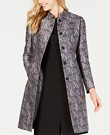 Anne Klein Jacquard Topper Jacket