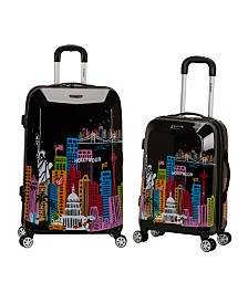 Rockland Cityscape 2PC Hardside Luggage Set