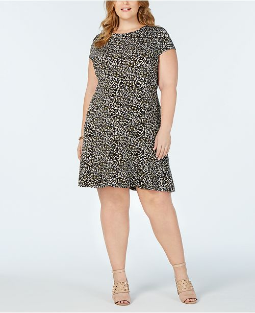 f1228af6cf6 Michael Kors Plus Size Camo-Print Dress   Reviews - Dresses - Plus ...