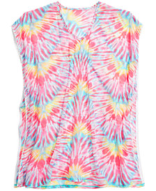 Summer Crush Big Girls Tie-Dyed Cover-Up Tunic