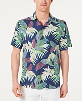 fd6c085e5 Tommy Bahama Men's Wallis Tropics Classic Fit IslandZone Hawaiian Camp Shirt