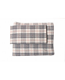 Flannel Plaid Sheet Set Full