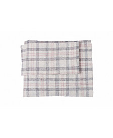 Flannel Check Plaid Sheet Set California King