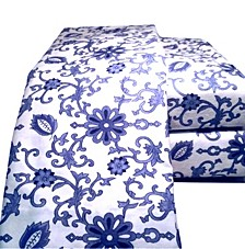 Paisley Flannel Sheet Set King