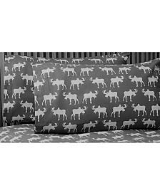 Moose Heather Ground Flannel Sheet Set King